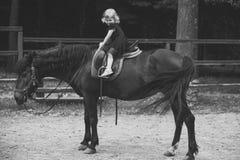 Badine l'école de cheval Ami, compagnon, amitié Photo stock