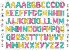 Badine l'alphabet avec des yeux Photographie stock