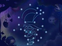 Badine l'illustration de livre Constellation de hippie Images stock