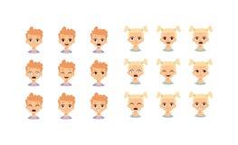Badine l'illustration de vecteur de visage d'emoji Photos stock