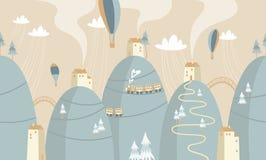 Badine l'illustration graphique Employant pour la copie sur le mur, les oreillers, l'intérieur d'enfants de décoration, l'usage d illustration stock