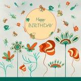 Badine la carte d'anniversaire Photographie stock libre de droits
