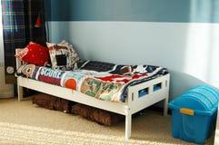 Badine la chambre à coucher bleue Photos libres de droits