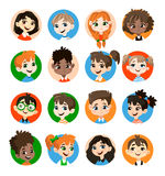 Badine la collection d'avatar illustration stock