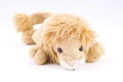 Badine le jouet doux de lion Photographie stock