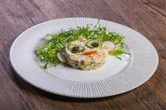 Badine le menu - salade Image stock