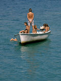 Badine le sailng en mer   Photos libres de droits