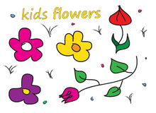 Badine les fleurs simples Photos stock