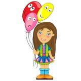 Badinez avec le ballon. bébé à la fête d'anniversaire Photo libre de droits
