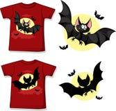Badinez la chemise avec le vampire mignon imprimé - d'isolement dessus  Photographie stock