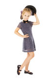 Badinez la petite fille bien habillée, enfants portent Images stock