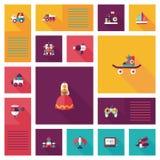 Badinez le fond plat d'ui des jouets APP, eps10 Images libres de droits