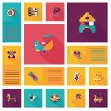 Badinez le fond plat d'ui des jouets APP, eps10 Image libre de droits