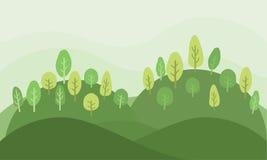 Badinez le fond vert naturel de nature de paysage de Forest Park de jardin Photographie stock libre de droits