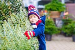 Badinez le garçon jouant avec le jouet en bois d'équilibre à la maison Image stock