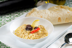 Badingian mutabbal Baba Ghanoush. Fresh homemade Badingian mutabbal Baba Ghanoush,traditional middle eastern dish Royalty Free Stock Photos