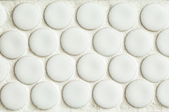 Badkamers Gray Wall Tiles Mosaic Royalty-vrije Stock Afbeelding