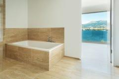 Badkamers, marmeren vloer Royalty-vrije Stock Afbeelding