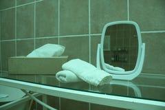 Badkamers met toebehoren Stock Fotografie
