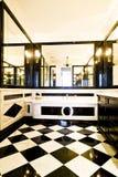 Badkamers met zwart-witte tegels Royalty-vrije Stock Fotografie