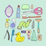 Badkamers Schoonheidsmiddelenvoorwerpen Stock Afbeeldingen