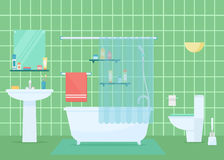 Badkamers vectorillustratie vector illustratie