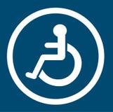 Badkamers voor gehandicapte personen, gehandicapt toilet, Badkamerstekens Stock Afbeeldingen