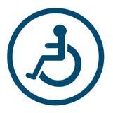Badkamers voor gehandicapte personen, gehandicapt toilet, Badkamerstekens Stock Foto's