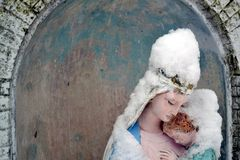 Badkar Madonna Royaltyfri Foto