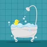 Badkuip in badkamers Royalty-vrije Stock Afbeeldingen