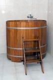 Badkuip in de sauna Royalty-vrije Stock Foto
