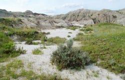 badland地形 库存图片
