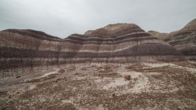 Badland Formations, Petrified Wood, and Bentonite Clay Near Blue Mesa Trail in Petrified Forest National Park, Arizona. Petrified Forest National Park is a Stock Image