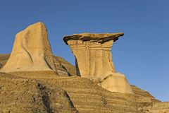 Badland hoodoos Royalty Free Stock Photos