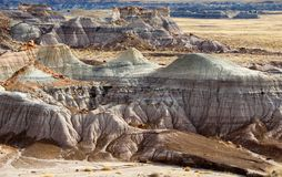 Badland landscape,. Petrified forest, New mexico Royalty Free Stock Photography