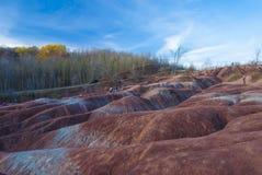 Badland op Caledon Ontario Royalty-vrije Stock Afbeeldingen