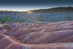 Badland på Caledon Ontario Arkivfoto