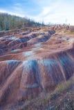 Badland su Caledon Ontario Fotografia Stock Libera da Diritti