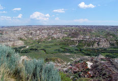 Badland terrain in alberta Stock Photography