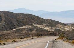 Badlands κοντά στις ανοίξεις Borrego στην έρημο της Καλιφόρνιας Στοκ Εικόνες