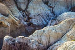 Badlands στην ανατολή στο χρωματισμένο εθνικό πάρκο ερήμων κοντά σε Holbroo στοκ εικόνες με δικαίωμα ελεύθερης χρήσης