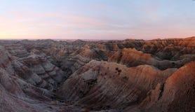 Badlands στην αυγή στοκ φωτογραφία με δικαίωμα ελεύθερης χρήσης