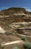 Badlands. The deserts of Drumheller, Canada Stock Photography