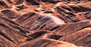 Badlands. A close up view of the clay formations in the badlands Royalty Free Stock Image