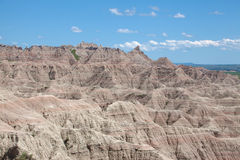 The Badlands. A view of the Badlands of South Dakota royalty free stock image