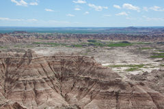The Badlands. A view of the Badlands of South Dakota stock images