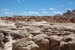 The Badlands. Rock formations at the Badlands in South Dakota stock images