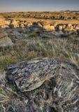 Badlands Alberta Canadá del Hoodoo imagenes de archivo