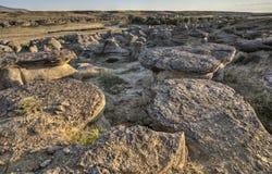 Badlands Alberta Canadá del Hoodoo fotos de archivo libres de regalías