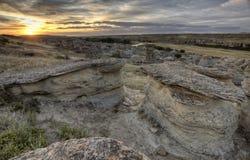 Badlands Alberta Canadá del Hoodoo imagen de archivo